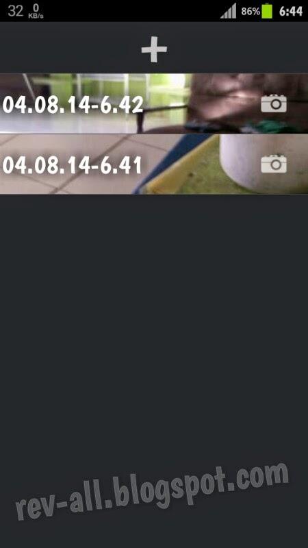 Tampilan utama TimeLapse - aplikasi pembuat gif dari kamera android (rev-all.blogspot.com)