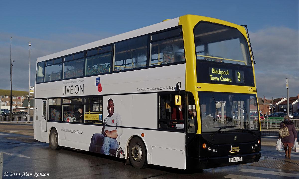Blackpool Tram Blog British Legion Adverts On Blackpool Buses
