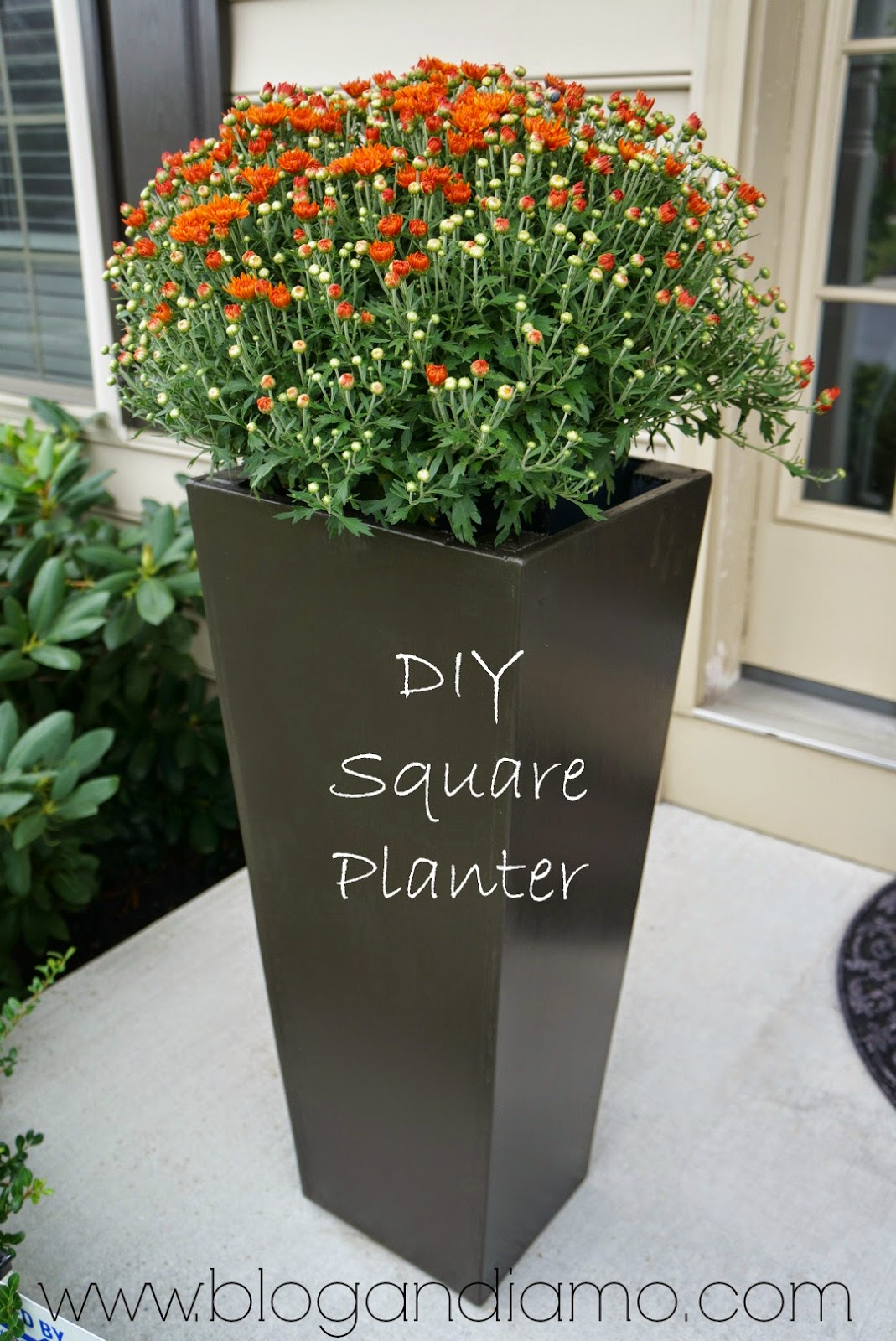 Tall Square Planters | A Diy Tale
