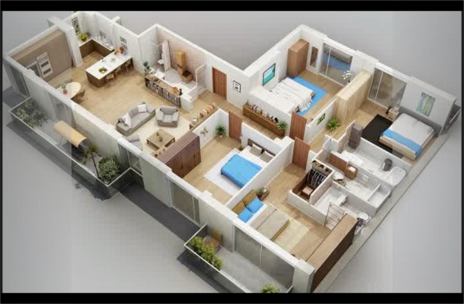 Desain Rumah Leter L