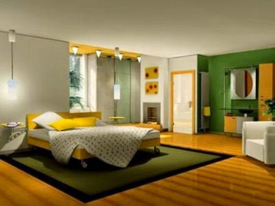 gambar desain kamar tidur utama minimalis interior modern