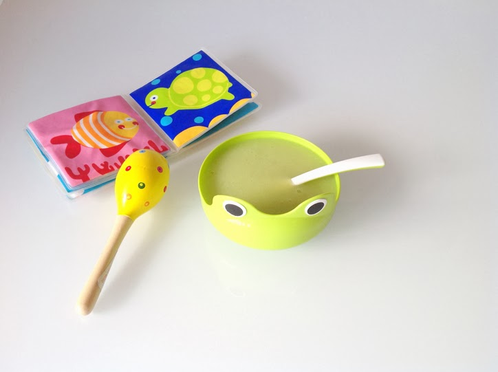papilla-para-niños-de-semola-de-arroz-y-calabacin-hansel y Greta