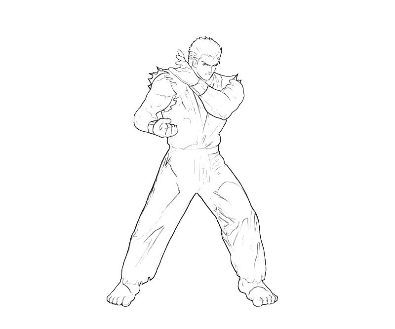 printable-king-of-fighters-ryo-sakazaki-fighters-coloring-pages