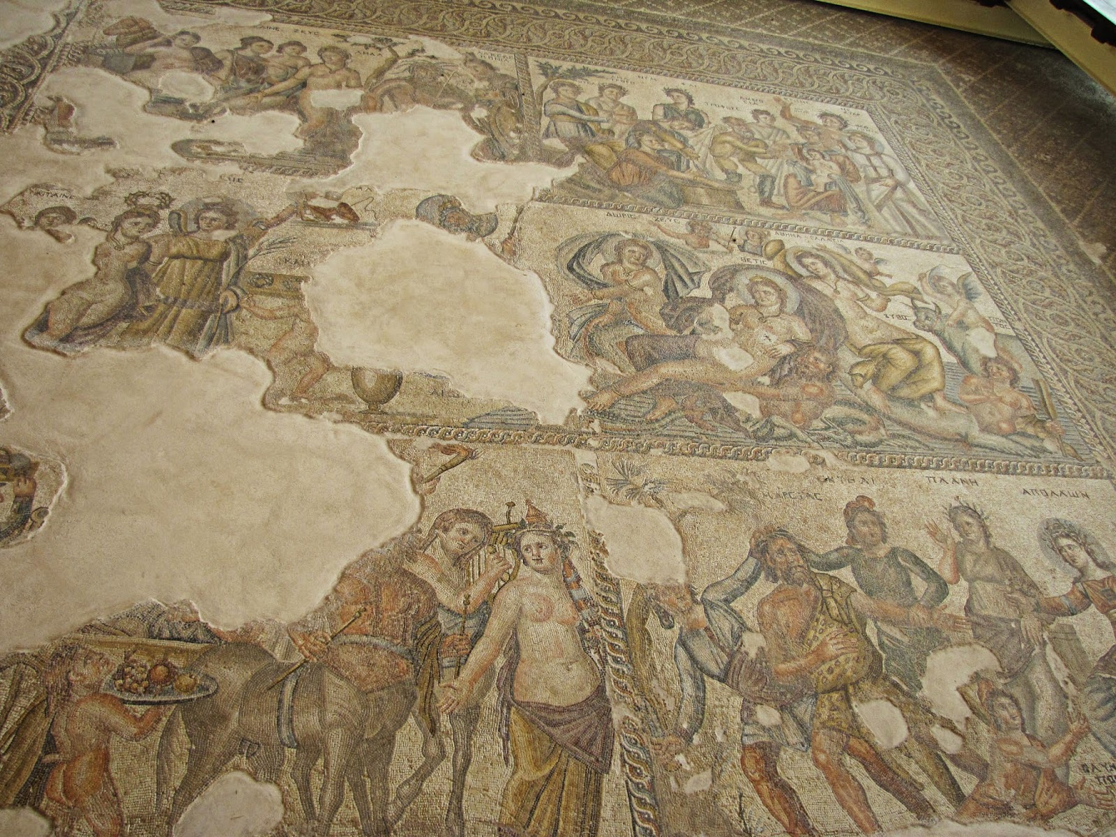 Chipre - Pafos - Mosaico de la casa de Aion