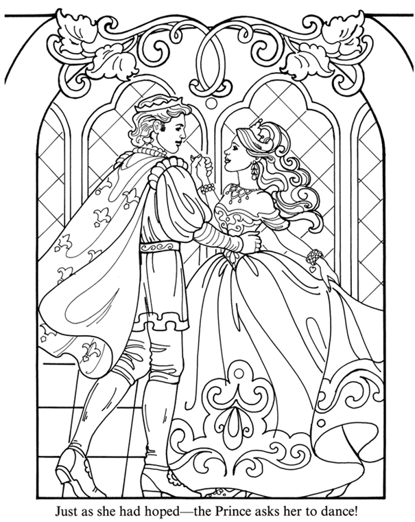 fantasy knights princesses coloring pages - photo#28