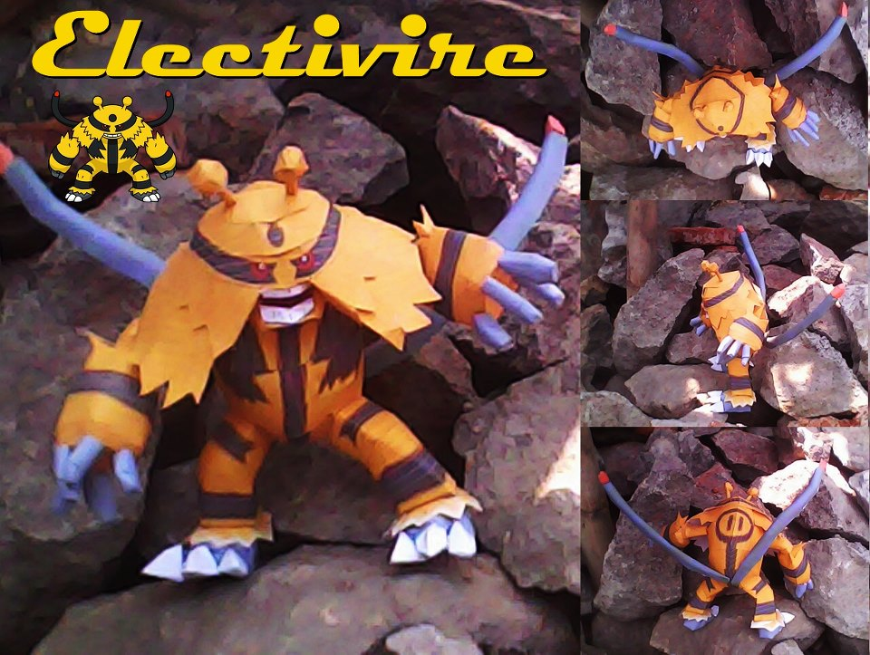 Pokemon Electivire Papercraft