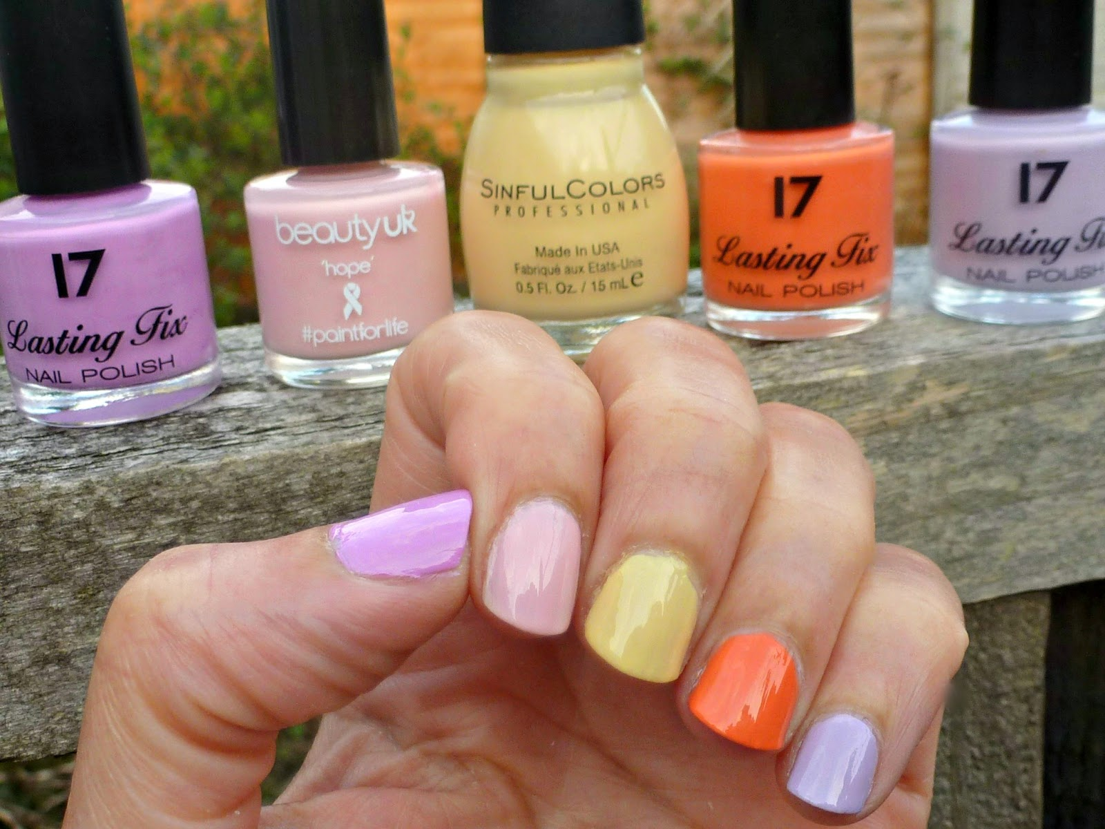 A picture of Spring Nail Polishes