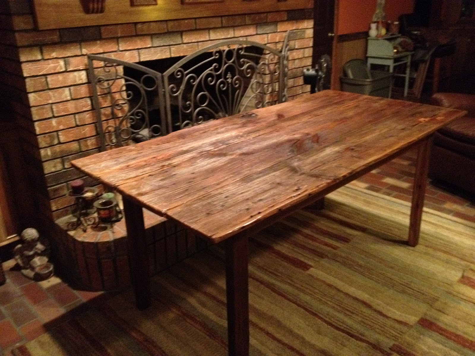 Barn Door From Family Property And Turn It Into A Dining Table For The
