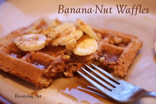 Everyday Art: Banana-nut waffles