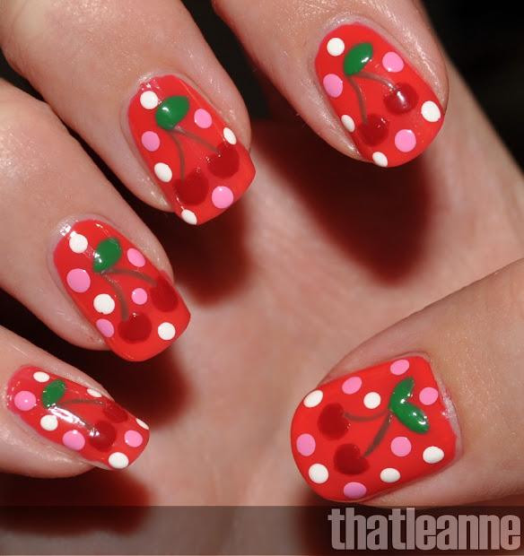 thatleanne cherry nail art