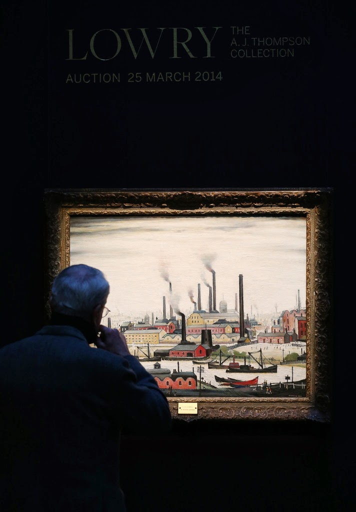 Sotherby's 'Lowry: The A.J. Thompson Collection' Auction 25 March 2014