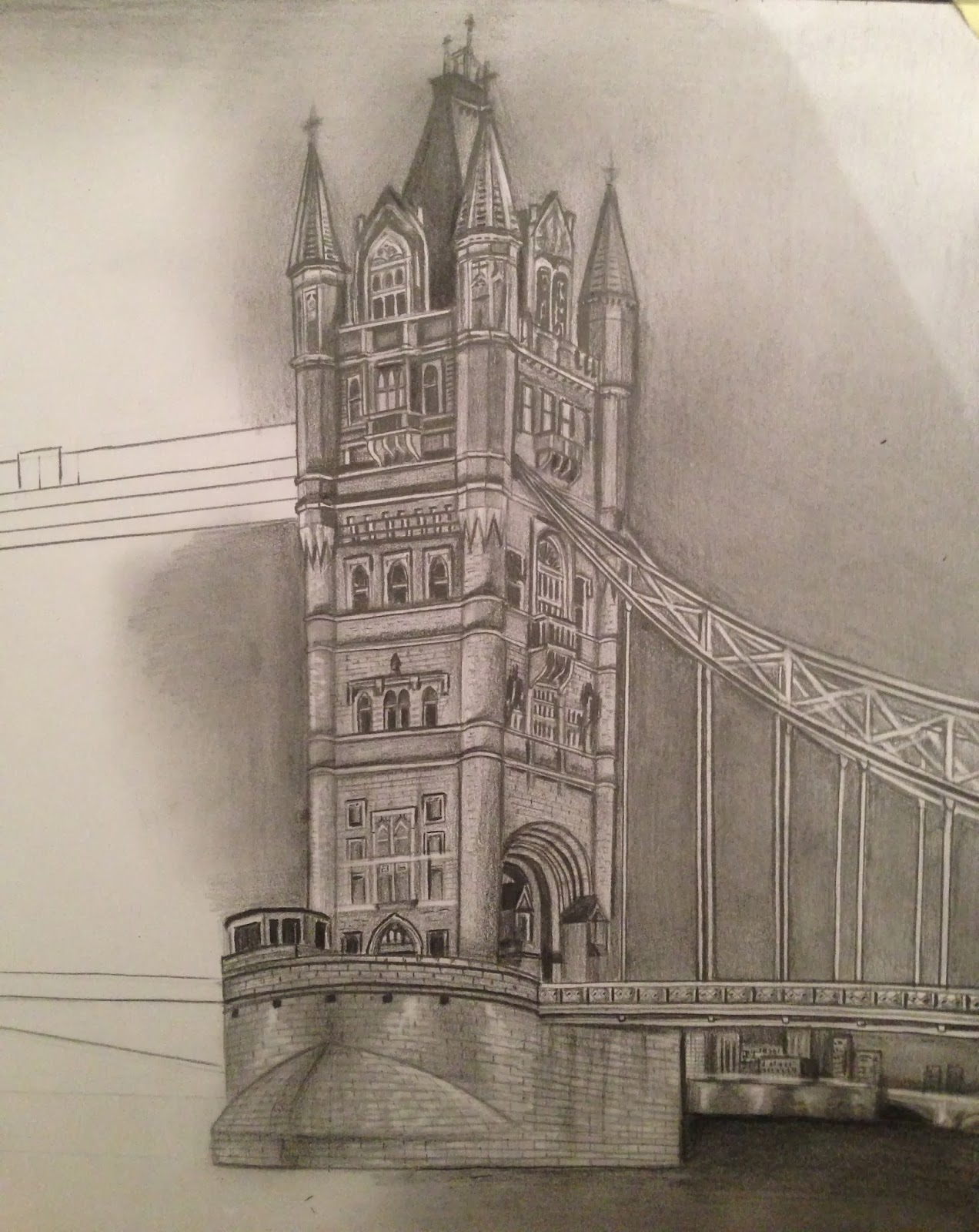 Contemporary Architectural Drawings Of Bridges Drawing For A