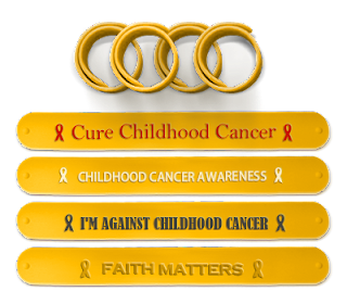 Childhood Cancer Awareness Wristbands