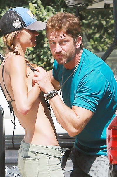the paparazzi have caught Gerard Butler with a new passion