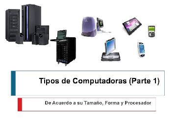 Clasificación de la Computadora