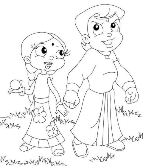 Online Coloring Chota Bheem : Kids page chota bheem coloring pages for