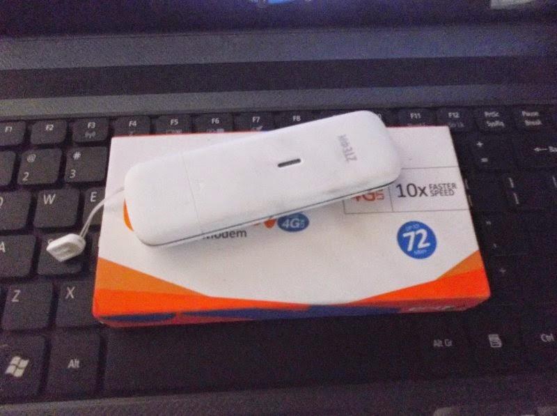 Mencoba Koneksi Internet Dengan Modem 4G ZTE MF825A