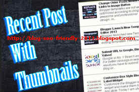Cara SEO Pasang Recent Posts Thumnails
