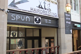 picture of exterior of Spun shop, Byram Arcade, Huddersfield