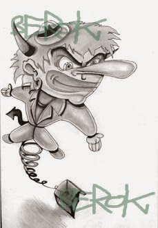 Boceto Payaso Old School