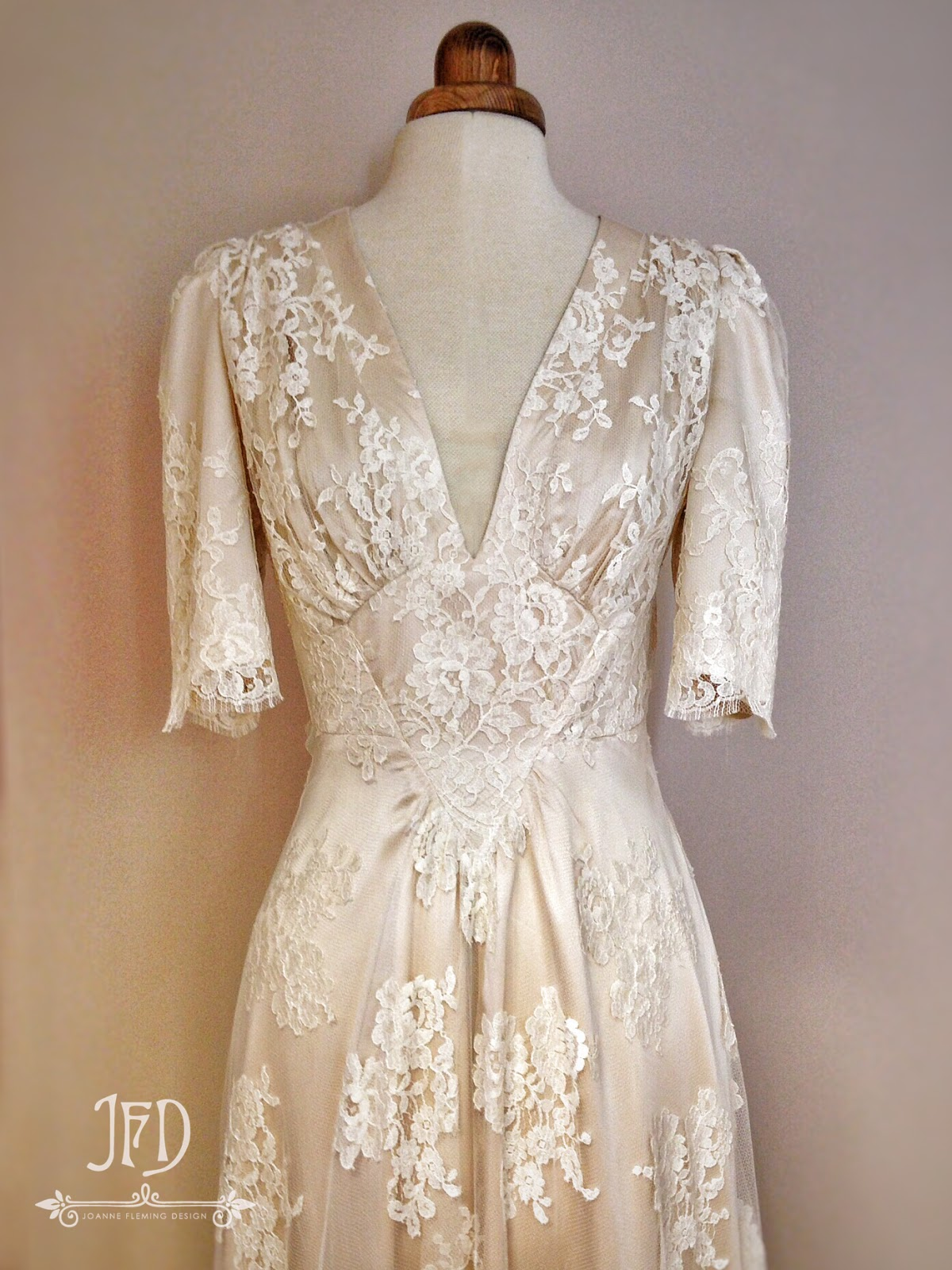 Joanne fleming design 39 bacall 39 an elegant 1940s inspired for French style wedding dresses