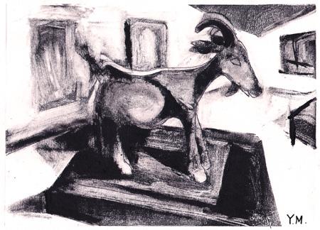 Picasso's goat sculpture by Yukié Matsushita