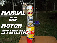 Manual do motor Stirling, gama, latinha e caseiro 780 rpm