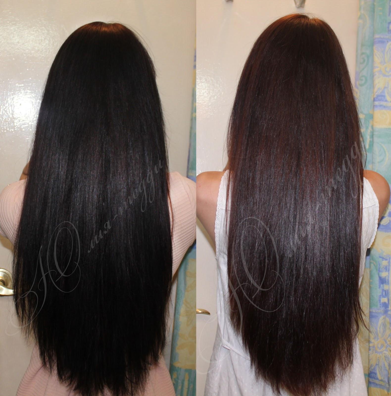 Смыть с волос черную краску с волос