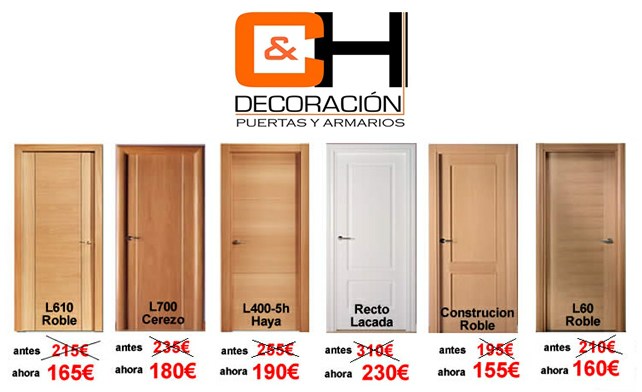 Puertas interior precios excellent leroy merlin coleccin for Ofertas puertas interior