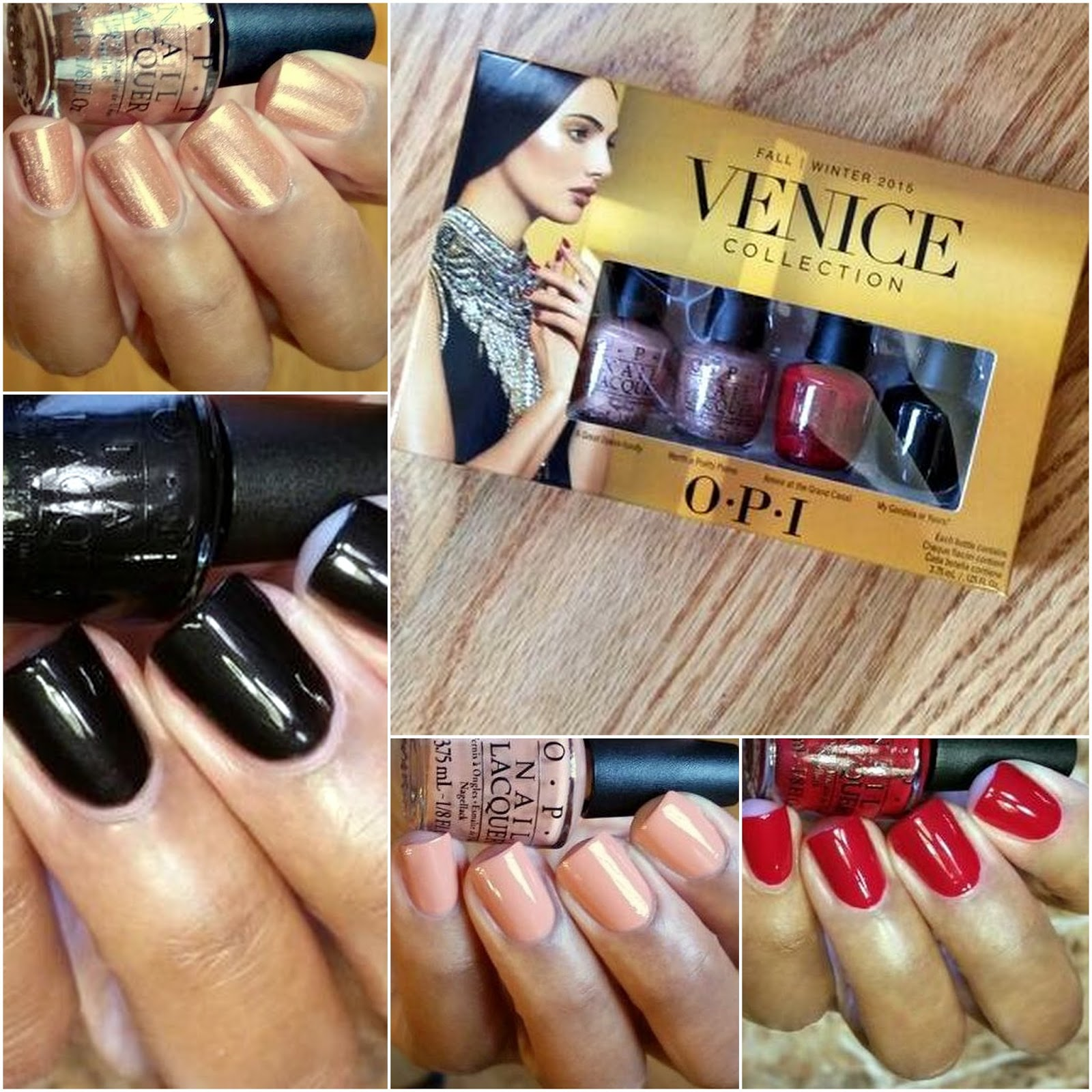 Enamel Girl: OPI Venice Fall 2015 Collection - Mini Set Swatches