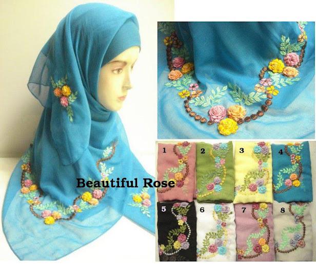 PRE-ORDER : TUDUNG SULAM BEAUTIFUL ROSE - RM 50 each