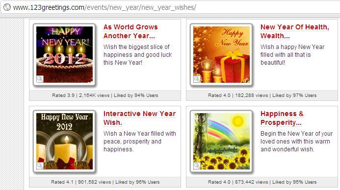 Desain kartu ucapan tahun baru