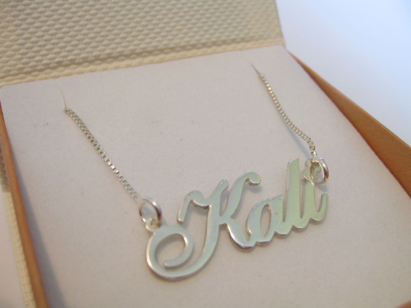 This nameplate necklace is available for purchase in three metals sterling Customized Name Necklace - From $ - Stylish & Personalized [more].