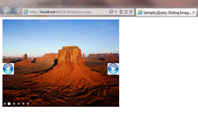 Jquery slideshow fx options