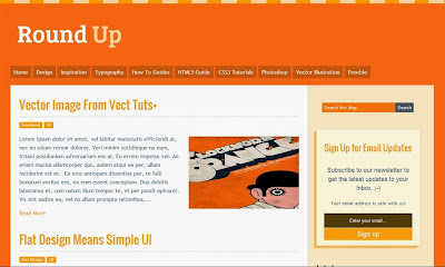 Round Up Responsive Blogger Template