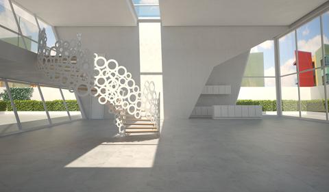 Escaleras de Caracol metal Modernas