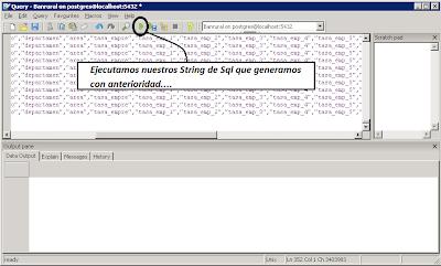 Ejecucion del SQL