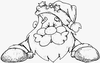 Santa Claus for Coloring, part 2