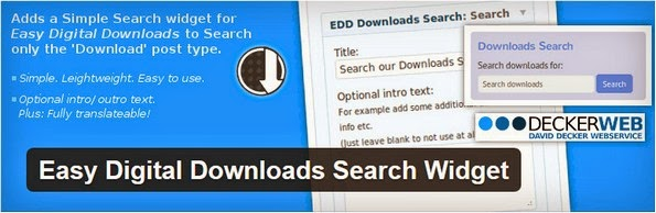 EDD search widget plugin