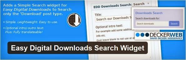 EDD search widget plugin