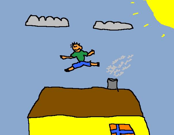 Annliz Jumping Off A High Roof