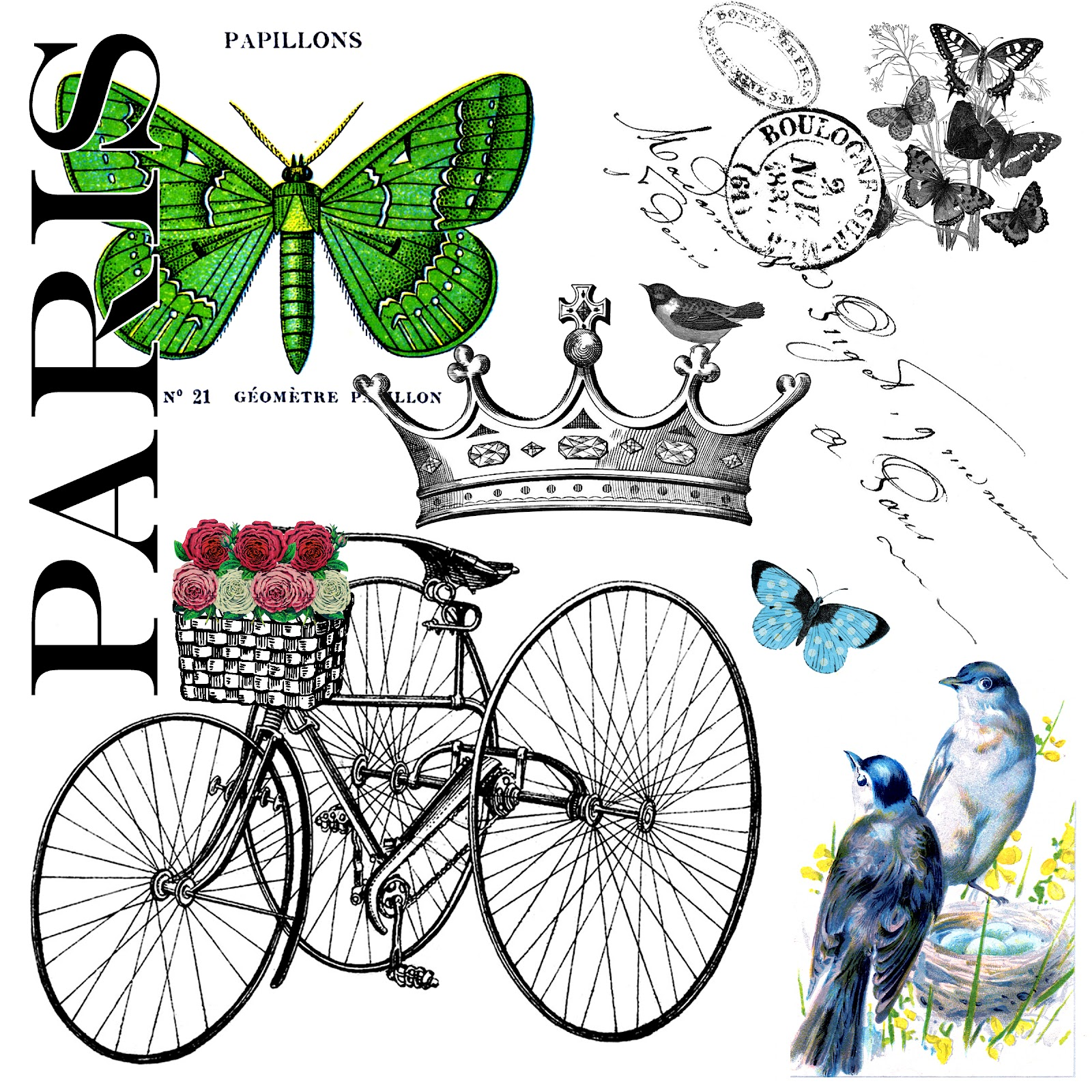 A Paris Apartment And A Paris Graphic: The Party Continues And A Paris Garden Free Graphic For