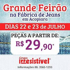 MEGA FEIRÃO NA FÁBRICA DE JEANS EM ACOPIARA