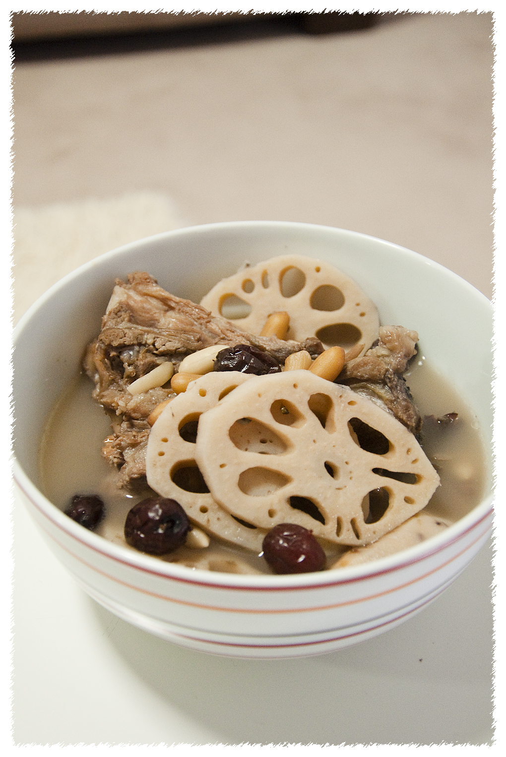 Lotus Root Soup with Peanuts, Pork Ribs and Red Dates (莲藕汤) | PS ...