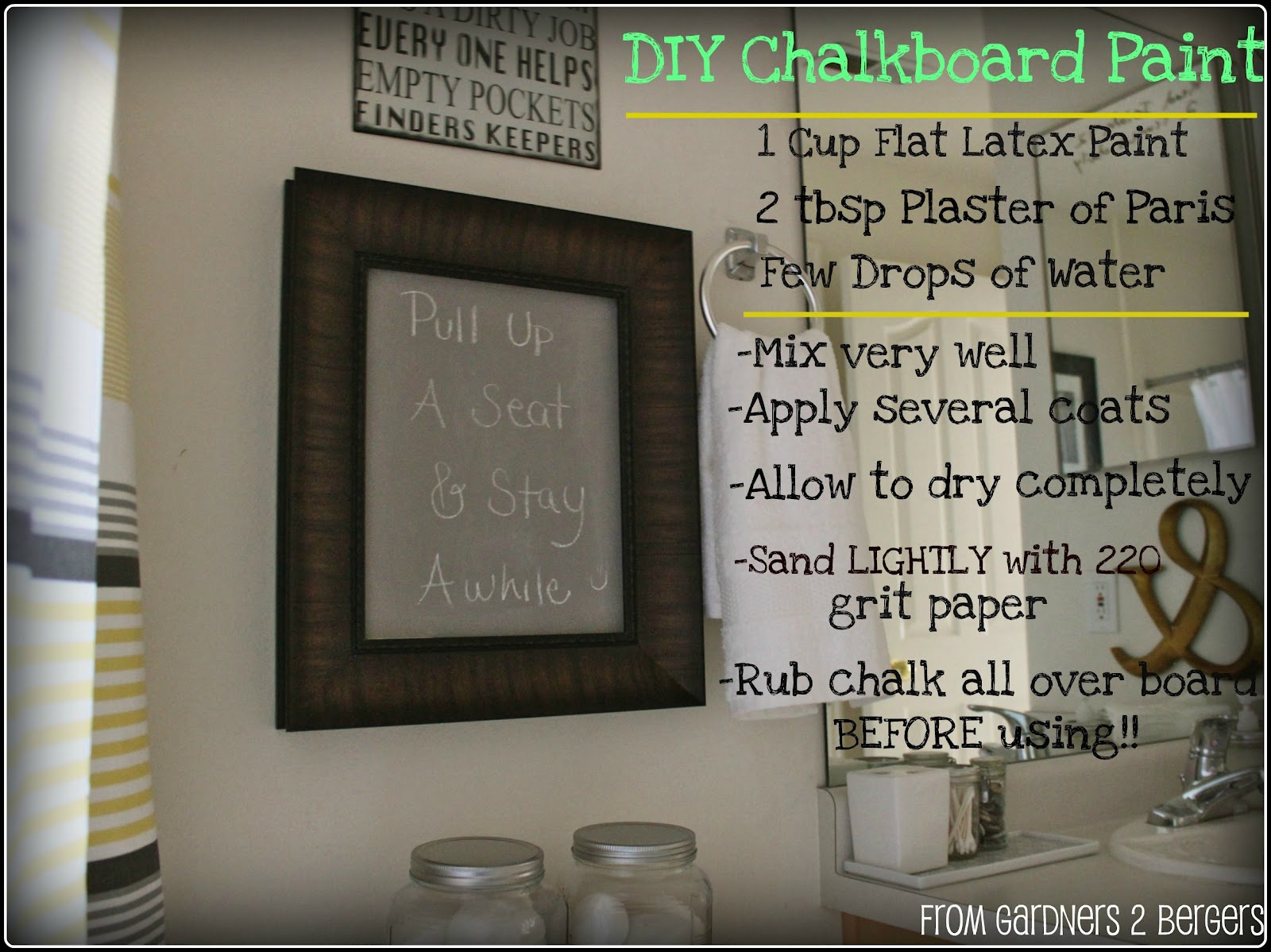 From Gardners 2 Bergers 3 Chalkboard Projects Diy