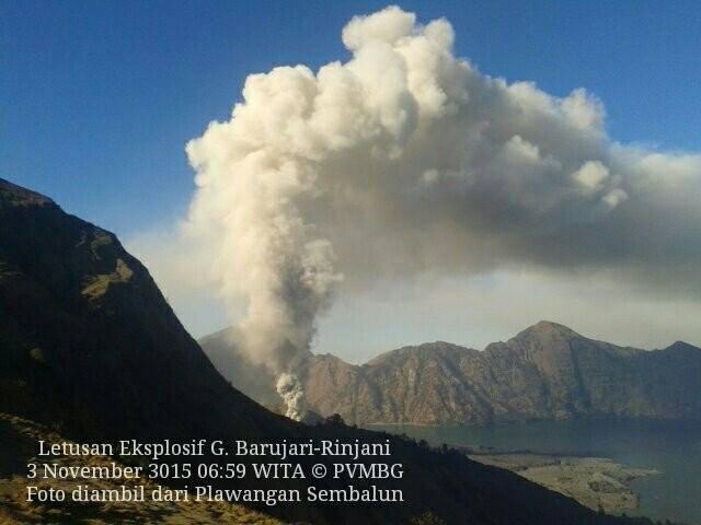 Aktifitas Gunung Baru Jari meningkat, Penutupan Bandara Internasional Lombok Diperpanjang