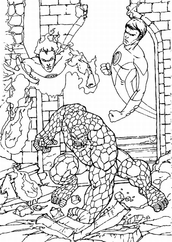 Marvel Coloring Pages Super Hero