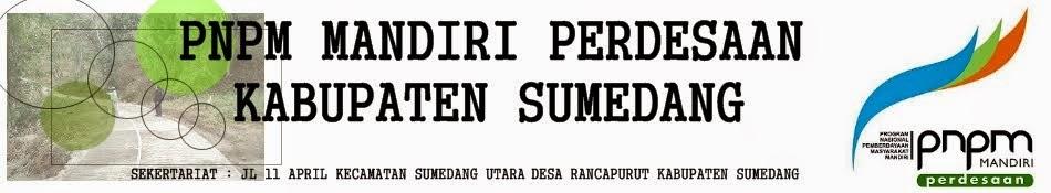 PNPM MANDIRI PERDESAAN KABUPATEN SUMEDANG