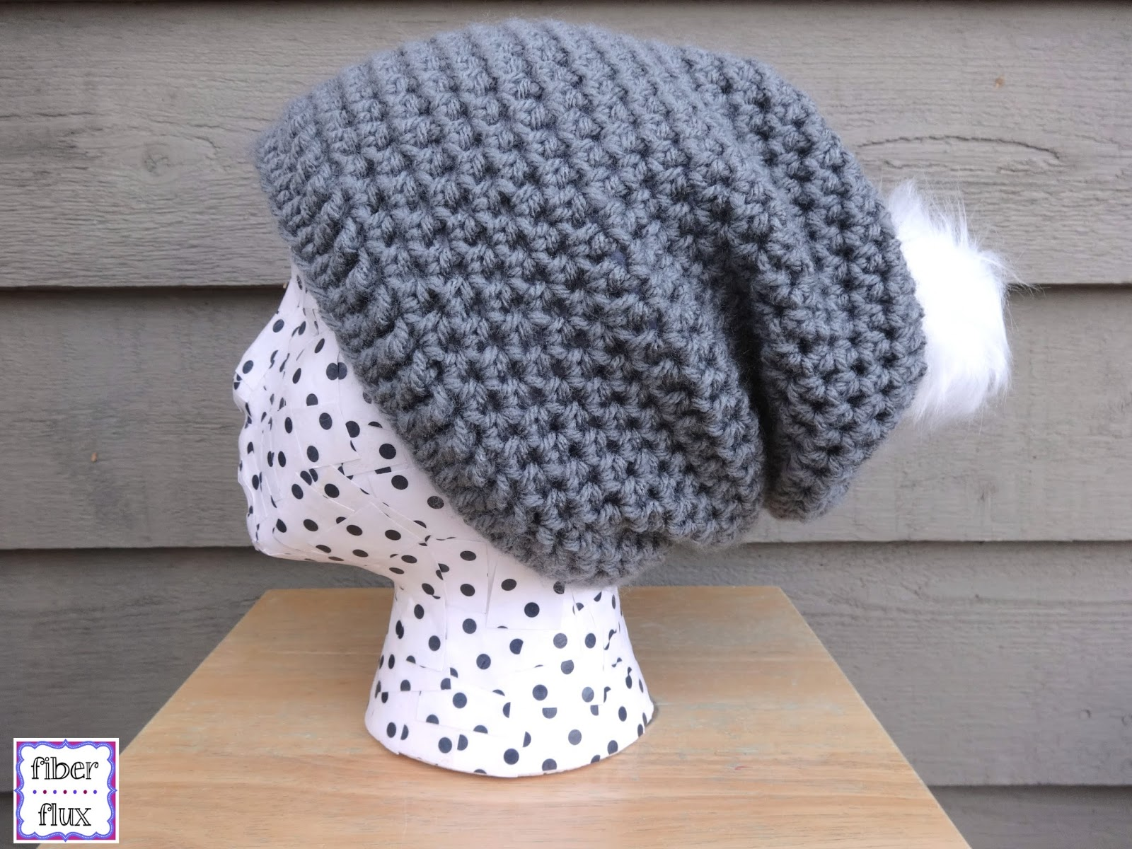 Free Crochet Pattern Chunky Slouchy Hat : Fiber Flux: How To Add A Little Tag To A Hat...A Great Way ...
