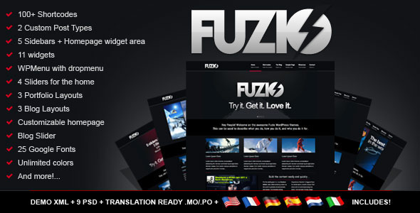 ThemeForest - Fuzio Agency / Business WordPress Theme